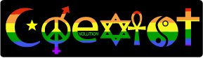 Bumper Sticker for Cars, Trucks - Coexist Rainbow - Professional Vinyl Decal | Made in USA - 3