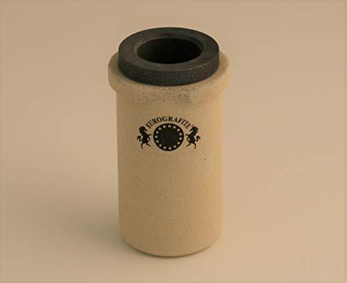 Schmelzschmelztablett aus Graphit, Kapazität 3 kg, Gold, komplett mit Keramik