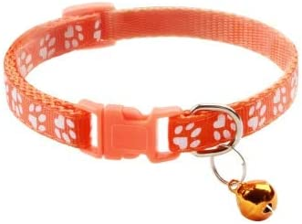 ZGQA-GQA 1pcs Supplies Cat Collar with Bell Adjustable Buckle Collar Cat Pet Supplies Cat Accessories Collar Small Dog - Dog Car Harness - Puppy Leash-1 Pcs-19-32cm-19-32cm