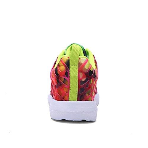 Dannto Road Running Sneakers Leichtathletik-Wanderschuhe für Frauen Männer rot
