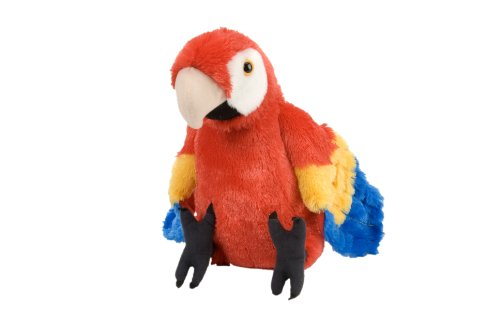 Wild Republic Scarlet Macaw Plush, Stuffed Animal, Plush Toy