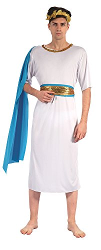 Bristol Novelty AF039 Greek God with Blue Sash, Chest Size 42