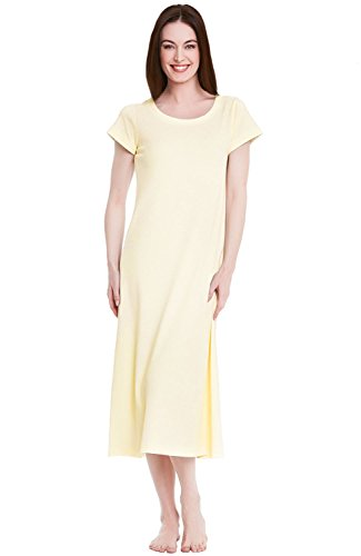 Alexander Del Rossa Womens Cotton Knit Nightgown, Long Sh...
