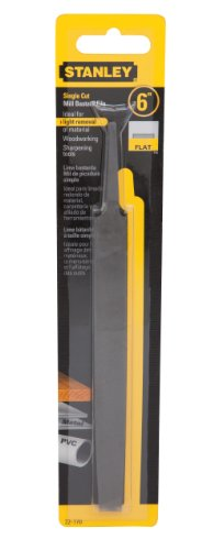 8in Flat Bastard File - Stanley 22-170 Single Cut Mill Bastard File, 6-Inch