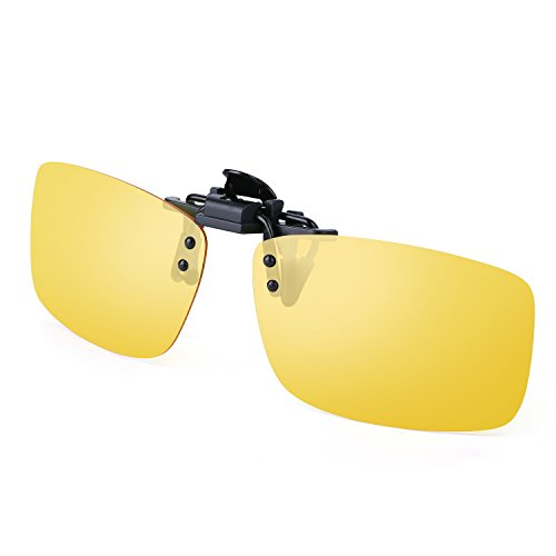 42d3e64f8f4 Besgoods Yellow Night Vision Sunglasses Flip up Polarized Clip-on Outdoor  Driving - Buy Online in Oman.