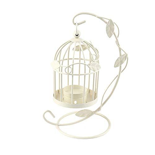 - LAAT Candle Holder Birdcage-Shape Metal Tealight Lanterns LED Wedding ChristmasTable Home Decoration