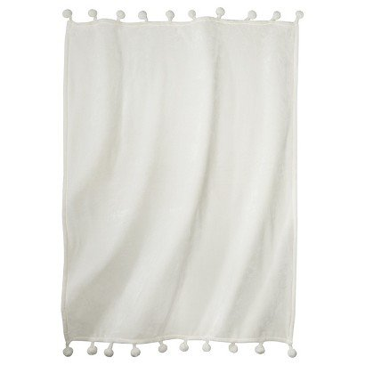 Xhilaration Pom Pom Throw With Tassel White 40l X 40w Amazoncouk Best White Pom Pom Throw Blanket