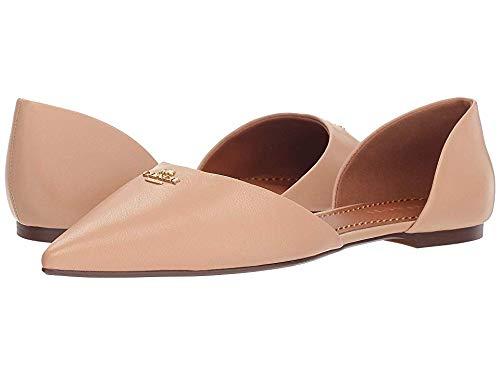 Coach Women's Leather Pointy Toe Flat Beechwood 8.5 M US (Coach Flats Shoes)