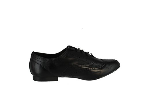 Breckelles Women Oxford-99 Flats,Black,9