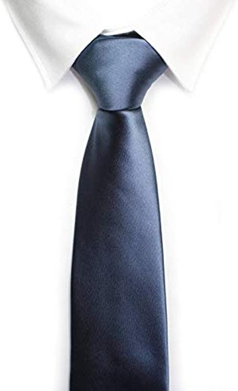 Corbata azul marino lisa brillos: Amazon.es: Ropa y accesorios