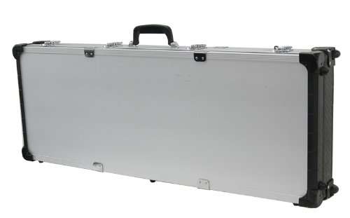 T.Z. Case International TZM0043 SD 43 1/2 x 16 x 5-Inch Tactical Rifle Case with Wheels, Silver Dot Finish (5 Dot Wheels)