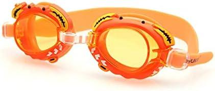 YCRCTC Gafas de natación for niños de Dibujos Animados Profesionales Niños Niñas Anti Niebla Piscina niños Impermeables Gafas de Buceo Gafas de Silicona Swim (Color : Orange)