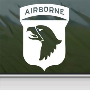 101St Airborne Screaming Eagles Wwii White Sticker Decal Car Window Wall Macbook Notebook Laptop Sticker Decal