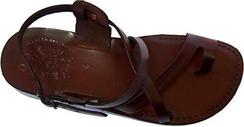 Holy Land Market Unisex Biblical Leather Sandals (Jesus - Yashua) Jesus - Yashua Style I - 46 M EU -