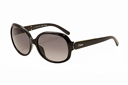 Chloe CE611S 001 Black CE611S Round Sunglasses Lens Category - Chloe Sunglasses Black