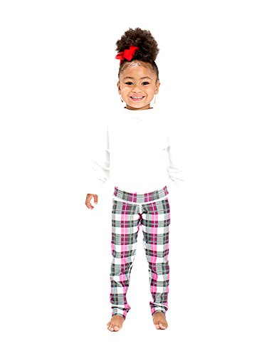 Body Angel Activewear Women's Mini Laura Plaid Leggings/Activewear/Yogawear (Medium, Pink/Grey)