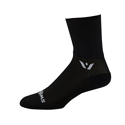 Swiftwick Performance Four Socks, Black, Large