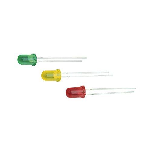 Pack de 100 uds LED 5 mm y 12 V color verde Electro Dh 12.675/5/12/V/T 8430552059973