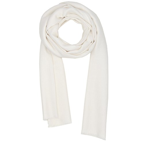 Off-White Scarves Spring Summer Silk Womens Men Scarf Shawl Kashmir Pashmina (Wool Scarf White)