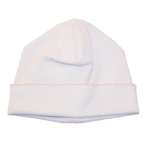 (Kissy Kissy Baby Girls' Basic Hat - White Pink-Newborn)