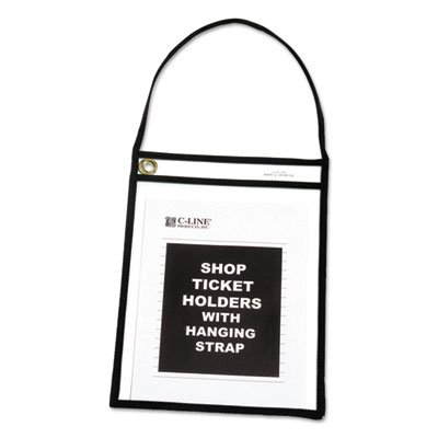 Shop Ticket Holder with Strap, Black, Stitched, 75'', 9 x 12, 15/BX