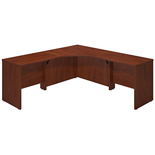 Bush Business Furniture Series C Elite 42W x 42D Corner Desk Shell with (2) 36W Returns in Hansen Cherry - Hansen Cherry Corner Connector