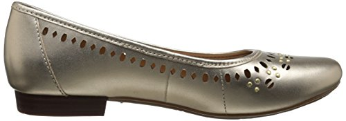 Clarks Lockney caliente plana Gold