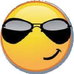 """Amazon.com: SMILEY - SUNGLASSES - Pinback Button 1.25"""" Pin"""