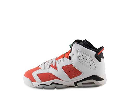 Image of Jordan Air 6 Retro Big Kids' Basketball Shoes Summit White/Team Orange-Black 384665-145 (7 M US)
