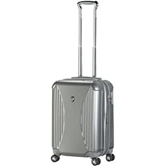 """Crown III 21"""" Hardsided Spinner Suitcase Color: Silver"""