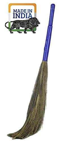 DE® Grass Broom Plastic Handle for All Floor Cleaning Broom King Size Stick for Home Cleaning   Soft Grass Eco-Friendly…