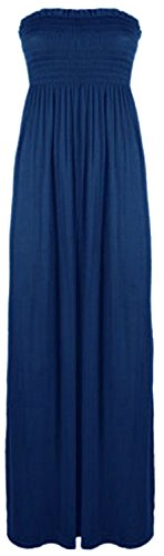 Xclusive Collection - Vestido - plisado - Básico - para mujer azul marino