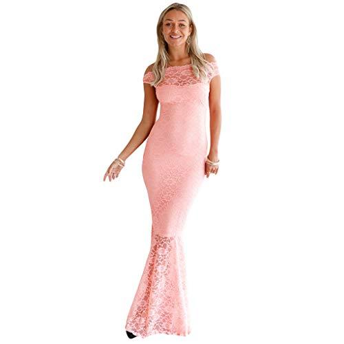 Coupe Queue Unie Slim Soirée Robe Ajourée La Pink Jibo Femme Couleur En Aux De Ourlet Poisson Dentelle Jupe Courte Manche Épaule Couture Femmes xqZq1XI