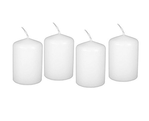 2x3 inch Bulk Event Pack Unscented Round Pillar Candles Qty 36 (2 x 3, White)