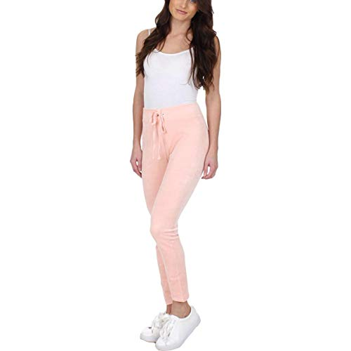 Juicy Couture Black Label Womens Wildstyle Velour High-Waisted Leggings Pink M (Couture Tracksuit Juicy Lady)