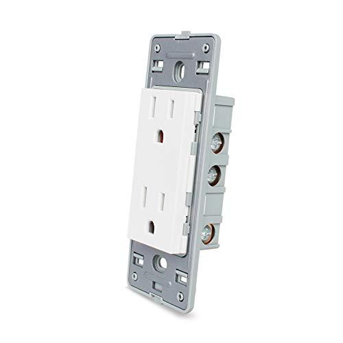 LIVOLO White US Standard Socket DIY Parts Function Key For US Wall Socket,110-220V,46mmx119mm,C5-C2US-11