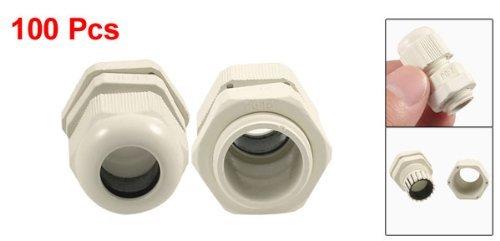 eDealMax 3 mm-5 mm de plástico impermeable Cables PG7 Glándulas conector Blanco 100 piezas: Amazon.com: Industrial & Scientific