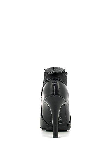 CAF NOIR zapatos negros MC146 mástil talón toma la punta elástica I16.010 NERO