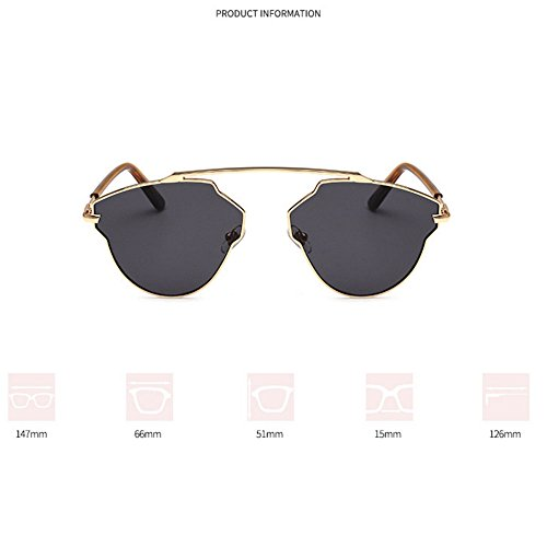 mode soleil lunettes soleil femmes de blue Coloré lentille Métal de de hommes miroir grenouille occasionnels revêtement lunettes polarisées EqBX8W8ZtU