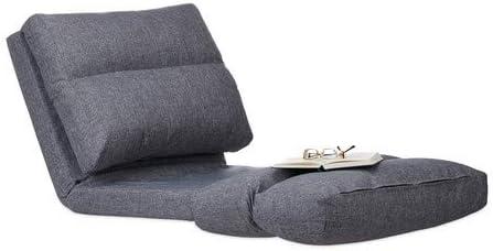 Relaxdays Silla Suelo, Lectura, Meditación, Cama, Colchón Plegable, Sillón Puff, Poliéster-DM, 1 Ud, 194 cm, Gris