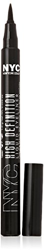 N.Y.C. New York Color High Definition Liquid Liner, Extra Black, 0.56 Fluid Ounce