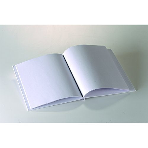 ASHLEY PRODUCTIONS WHITE HARDCOVER BLANK BOOK 11X8-1/2 (Set of 24)