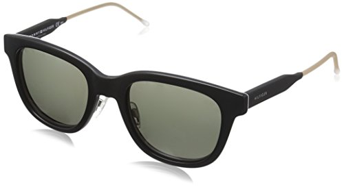 Tommy Hilfiger Th1352s Wayfarer Sunglasses, Black Gray Havana/Gray Green, 51 - Wayfarer Hilfiger Tommy