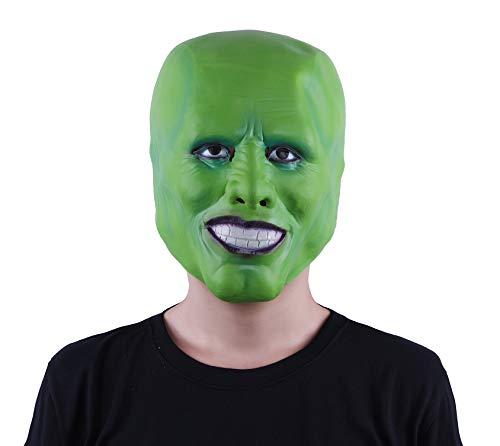 DylunSky Green Head Mask Halloween Jimcarry Latex Mask