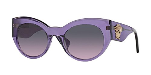 Versace Women's VE4297 Transparent Violet/Light Violet - Sunglasses Versace Purple