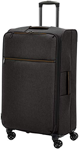 AmazonBasics Belltown Softside Rolling Spinner Suitcase Luggage - 29 Inch, Heather -