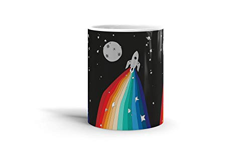 Ceramic Coffee Mug Comic Strip Cup Magic Rocket Comics Comedian Drinkware Super White Mugs Family Gift Cups 11oz 325ml