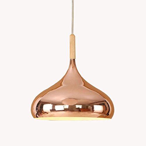 Baycher Aluminum Plating Rose Gold Chrome Metal Ceiling Pendant Lights Italian Style Chrome Red Copper Mirror Ball Globe Hanging Lamp Chandelier (Color : Rose gold, Size : Diameter 30cm) (Pendant Light Rose Glass)