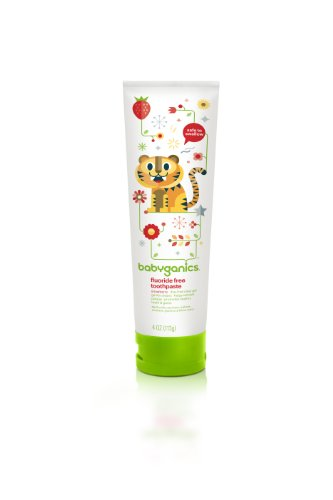 - BabyGanics Say Ahh Flouride Free Toothpaste, Strawberry, 4 Ounce