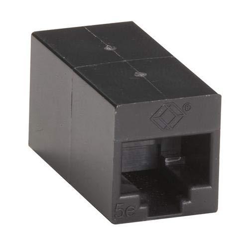 (Black Box FM509-10PAK, CAT5e Coupler, Straight-Pinned, 2 Packs of 10 pcs)